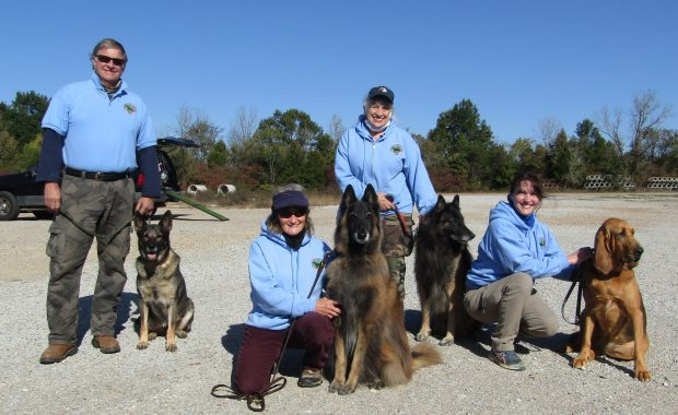 MSSARDA K9 Handlers Earn Search Certifications